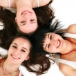 Royalty-Free Stock Photo: Three beautiful girls on the floor
