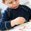 Child painting — Stock Photo