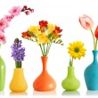 Stock Photo: Spring flowers in vases
