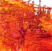 Erimiş pastel boya resim — Stok fotoğraf