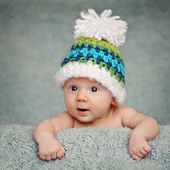 Adorable portrait of two months old baby — Stockfoto