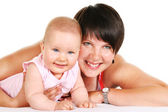 Happy mother with baby portrait — Stock Photo