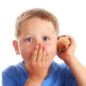 Child with seashell — Stock Photo