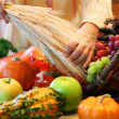 Stock Photo: Decorating cornucopia
