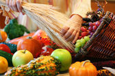 Decorating cornucopia — Stock Photo