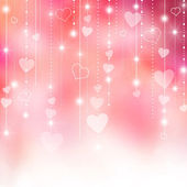 Pink Valentine's hearts background — Stock Photo