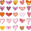 Trendy hearts — Image vectorielle