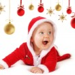 Happy Christmas baby with baubles — Stock Photo #30942827