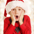 Surprised Christmas boy — Stock Photo #32630781