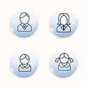 Iconos avatares familiar — Vector de stock