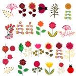 Doodle flowers set — Stock Vector #33627037