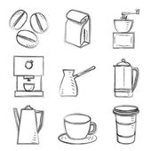 Coffee sketches — Stock Vector