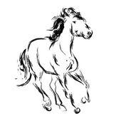 Эскиз лошади — Cтоковый вектор