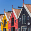 Colored houses of Zoutkamp — Stock Photo