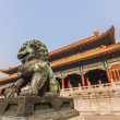 Royalty-Free Stock Photo: Chinese lion in the forbidden city, Beijing