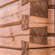Detail of building technique of a wooden church — Stock Photo