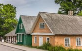 Traditional wooden houses in Trakai, Lithuania — Stock Photo