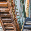Gears of the railroad bridge Friesenbrucke close to Weener in Ge — Stock Photo