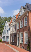 Old houses in the center of Leer, Germany — Stock Photo