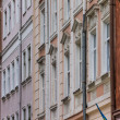 Detail of houses at the market square of Lviv — Stock Photo
