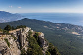 View from mountain Ai Petri near Yalta — Stock Photo
