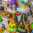 Colorful little painted souvenir bells of Lviv — Stock Photo