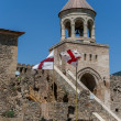 Tower of the Sveti-Tskhoveli Cathedral — Stock Photo