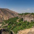 Stock Photo: View over the valley in Garni, Armenia