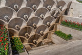 Marble monument in Soviet style in Yerevan — Stock Photo