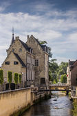 Canal and old house in the center of Valkenburg — Stock Photo