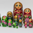Russian wooden nesting dolls — Stock Photo