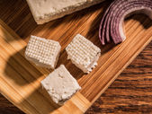 Brined cow's cheese — Stock Photo