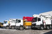 Cement pump truck — Stock Photo