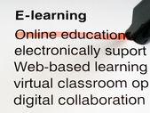 E-learning — Stock Photo