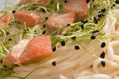 Salmon pasta — Stock Photo