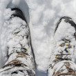 Stock Photo: Snowy Winter Boots