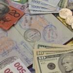 Travel Passport and Money — Stock Photo