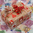 Gift and Money — Stock Photo