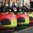Stock Photo: Bumper Cars in row