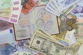 заграничный паспорт и деньги — Стоковое фото