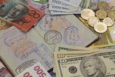 Cestovní pas a peníze — Stock fotografie