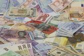 床の上でお金 — ストック写真