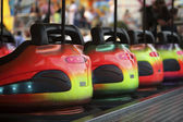 Bumper Cars in a row — Stock Photo
