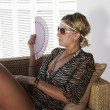 Woman relaxes — Foto Stock