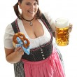 Bavarian Waitress - Stock Photo