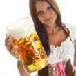 Bavarian Waitress — Stock Photo