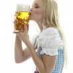 Woman with Beer Mug — Stock Photo #19256965