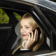 Woman on the phone — Stockfoto