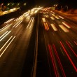 Highway Traffic at night — Stock Photo