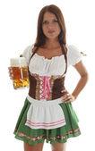 Bavarian Waitress — Stock Photo
